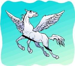 Geflügeltes Pferd der griechischen Mythologie: Pegasus - Pegasos