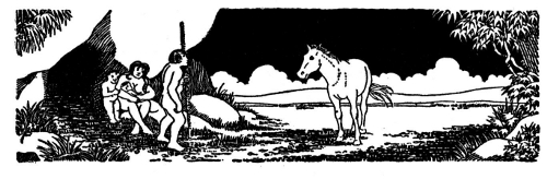Pferde und Menschen