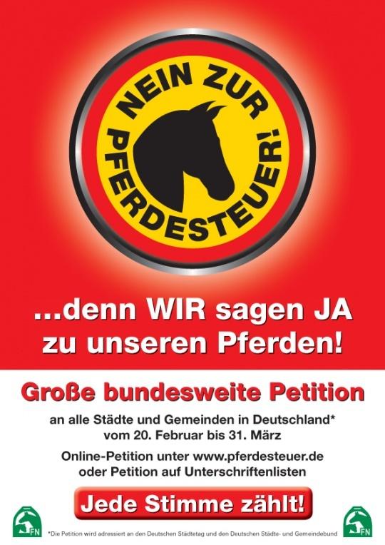 Online-Petition - Nein zur Pferdesteuer!